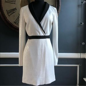 NWOT Rachel Zoe Meryl Sequin Faux Wrap Dress